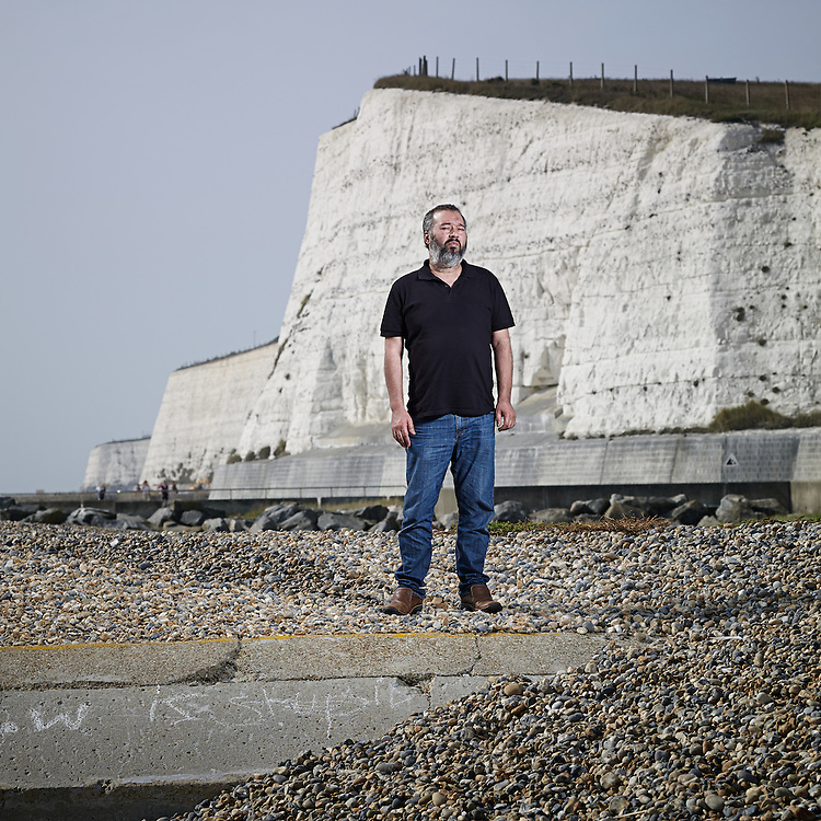 © John Angerson<br /> Abubaker Deghayes photographed at Saltdean beach, West Sussex - who son Abdullah Deghayes, who was killed in Syria fighting for jihadi groups fighting against the regime of Bashar al-Assad,