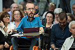 Pablo Echenique, Secretary of Government Action, Institutional Action and Program;  in a meeting of Podemos with people in Madrid where they exchange points of view, listen to concerns and draw shared horizons.<br /> October 5, 2019. <br /> (ALTERPHOTOS/David Jar)