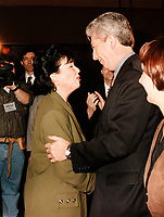 Montreal (QC) CANADA - February 29 1996  file photo -<br /> Gilles Duceppe (R)
