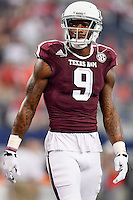 Texas A&M wide receiver Ricky Seals-Jones (9) during an NCAA Football game, Saturday, September 27, 2014 in Arlington, Tex. Arkansas leads 21-14 at the halftime. (Mo Khursheed/TFV Media via AP Images)