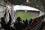The Rangers team come out to begin their pre-match warmup at Tynecastle
