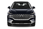 Car photography straight front view of a 2021 Hyundai Santa-FE-Hybrid Limited-HEV 5 Door SUV Front View