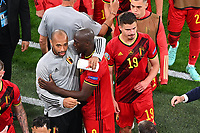 ST PETERSBURG, RUSSIA - JUNE 12 : Thierry Henry assistent coach of Belgian Team and Romelu Lukaku forward of Belgium after the 16th UEFA Euro 2020 Championship Group B match between Belgium and Russia on June 12, 2021 in St Petersburg, Russia, 12/06/2021 <br /> Photo Photonews / Panoramic / Insidefoto <br /> ITALY ONLY