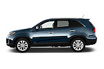 Car Driver side profile view of a 2015 KIA Sorento EX V6 AT 5 Door Suv 2WD Side View