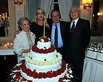 CLELIA PREVITI, ROMANA LIUZZO, ANDREA CARLI E CESARE GERONZI<br /> PREMIO GUIDO CARLI - SECONDA  EDIZIONE<br /> RICEVIMENTO A CASINA VALADIER  ROMA 2011