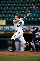 Bradenton Marauders first baseman Will Craig (22) follows through on a swing during the second game of a doubleheader against the Tampa Yankees on June 14, 2017 at LECOM Park in Bradenton, Florida.  Tampa defeated Bradenton 5-1.  (Mike Janes/Four Seam Images)