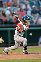 Lowell Spinners shortstop Tzu-Wei Lin (7) during a game against the Tri-City ValleyCats on July 5, 2013 at Joseph L. Bruno Stadium in Troy, New York.  Tri-City defeated Lowell 5-4.  (Mike Janes/Four Seam Images)