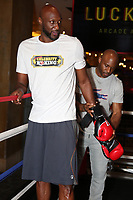 ATLANTIC CITY, NJ - JUNE 8 : Lamar Odom  training at the Showboat hotel on June 8, 2021 in Atlantic City, New Jersey for the Lamar Odom vs. Aaron Carter Celebrity Boxing match this Friday, June 11 Credit: Star Shooter/MediaPunch