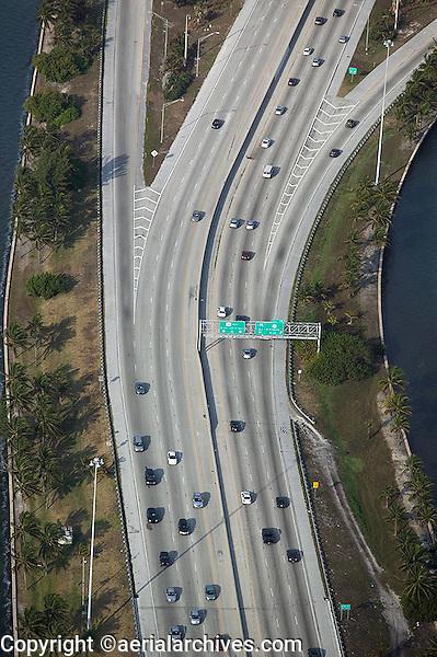 aerial photograph freeway exit Miami International Airport Florida