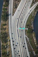 aerial photograph freeway exit Miami International Airport Florida