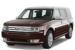 Front three quarter view of a 2009 Ford Flex.