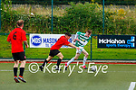 Darragh Lowth Killarney Celtic takes on Eoin McDonnell St Brendans Park during their cup clash in Celtic Park on Sunday