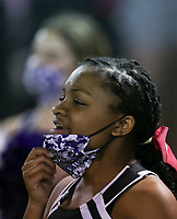 Image, Friday, October 9, 2020 during a football game at Fayetteville High School in Fayetteville. Check out nwaonline.com/2010010Daily/ for today's photo gallery. <br /> (NWA Democrat-Gazette/Charlie Kaijo)