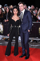 """FKA Twiggs and Robert Pattinson<br /> at the """"Lost City of Z"""" premiere held at the British Museum, London.<br /> <br /> <br /> ©Ash Knotek  D3229  16/02/2017"""