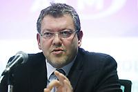 Joel Gauthier , President Directeur General, Agence Metropolitaine de Transport, speak at a news conference November 2, 2011.<br /> <br /> File Photo : Agence Quebec Presse - Pierre Roussel