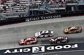 #18: Kyle Busch, Joe Gibbs Racing, Toyota Camry Snickers and #2: Brad Keselowski, Team Penske, Ford Discount Tire