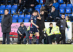 St Johnstone v Ross County…..29.12.19   McDiarmid Park   SPFL<br />Ross Stewart goes off injured<br />Picture by Graeme Hart.<br />Copyright Perthshire Picture Agency<br />Tel: 01738 623350  Mobile: 07990 594431