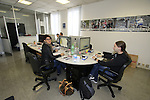 Barbara and Claudio design staff hard at work in their office Santini Factory, Lallio, Italy. 30th September 2015.<br /> Picture: Eoin Clarke | Newsfile