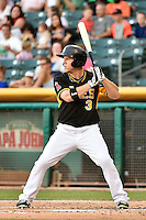 J.B. Shuck (3) of the Salt Lake Bees at bat against the Reno Aces in Pacific Coast League action at Smith's Ballpark on July 23, 2014 in Salt Lake City, Utah.  (Stephen Smith/Four Seam Images)