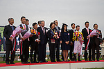 KYOTO,JAPAN-NOVEMBER 13: Winning ceremony of the Queen Elizabeth II Cup at Kyoto Racecourse on November 13,2016 in Kyoto,Kyoto,Japan (Photo by Kaz Ishida/Eclipse Sportswire/Getty Images)