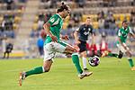 12.09.2020, Ernst-Abbe-Sportfeld, Jena, GER, DFB-Pokal, 1. Runde, FC Carl Zeiss Jena vs SV Werder Bremen<br /> <br /> <br /> Niclas Füllkrug / Fuellkrug (Werder Bremen #11)<br />  Einzelaktion, Ganzkörper / Ganzkoerper  Querformat<br /> <br /> <br /> Foto © nordphoto / Kokenge