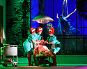 """EMBARGOED UNTIL 23:00 FRIDAY 18 OCTOBER 2019: London, UK. 16.10.2019.  English National Opera presents """"The Mask of Orpheus"""", by Sir Harrison Birthwhistle, libretto by Peter Zinovieff, at the London Coliseum, in its first London restaging in the 30 years since its premiere, coinciding with the celebration of Sir Harrison's 85th birthday. Directed by Daniel Kramer, with lighting design by Peter Mumford, set design by Lizzie Clachan and costume design by Daniel Lismore. Picture shows: Charlotte Shaw (First Woman), Peter Hoare (Orpheus the Man), Katie Stevenson (Third Woman), Daniel Norman (Orpheus the Myth), Katie Coventry (Second Woman). Photograph © Jane Hobson."""
