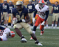 Pitt running back Isaac Bennett. The Pittsburgh Panthers beat the Syracuse Orange 33-20 at Heinz Field in Pittsburgh, Pennsylvania on December 3, 2011