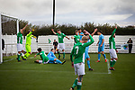 Holker Old Boys 2 Crook Town 1, 10/10/2020. Rakesmoor, FA Vase second round qualifying. The away players successfully appeal for a foul during the first-half as Holker Old Boys (in green) take on Crook Town in an FA Vase second round qualifying tie at Rakesmoor, Barrow-in-Furness. The home club was established in 1936 as Holker Central Old Boys and was initially an under-16 team for former pupils of the Holker Central Secondary School. Holker from the North West Counties League beat their Northern League opponents 2-1, watched by a crowd of 147 spectators. Photo by Colin McPherson.