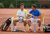 2013-08-17, Netherlands, Raalte,  TV Ramele, Tennis, NRTK 2013, National Ranking Tennis Champ,  Pedro Mol(r) and Evthimios Karaliolios<br />