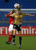 Kristie Mewis (USA)..FIFA U17 Women's World Cup, Semi Final, Germany v USA, QEII Stadium, Christchurch, New Zealand, Thursday 13 November 2008. Photo: Renee McKay/PHOTOSPORT