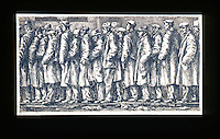 American Painters:  Reginald Marsh--Bread Line, 1932.  Etching. Whitney Museum American Art, 1969.
