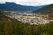 An overview of the capital city of Thimphu, Bhutan. Photo: Sanjit Das/Panos