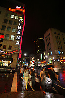 Montreal Qc CANADA _ august 2012 : retails stores in downtown Montreal<br />  - Scotia Bank Cinema