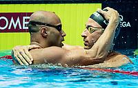 GOMES JUNIOR Joao (left), LIMA Felipe BRA Brasil (right)<br /> Gwangju South Korea 24/07/2019<br /> Swimming 50 breaststroke men<br /> 18th FINA World Aquatics Championships<br /> Nambu University Aquatics Center <br /> Photo © Giorgio Scala / Deepbluemedia / Insidefoto