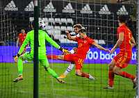 12th November 2020; Liberty Stadium, Swansea, Glamorgan, Wales; International Football Friendly; Wales versus United States of America; Konrad de la Fuente of USA shoots at goal but it goes over the bar