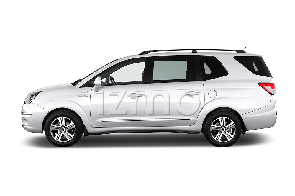 Car Driver side profile view of a 2014 Ssangyong Rodius Sapphire 5 Door Minivan Side View