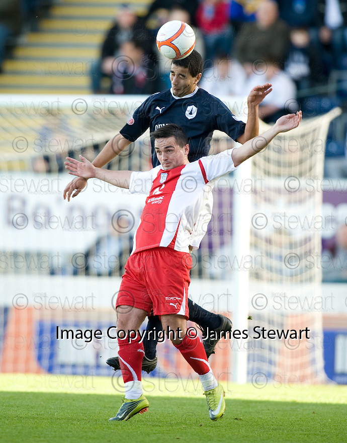 30/10/2010   Copyright  Pic : James Stewart.sct_jsp007_falkirk_v_dundee  .:: MEHDI KHALIS GTES ABOVE SEAN HIGGINS :: .James Stewart Photography 19 Carronlea Drive, Falkirk. FK2 8DN      Vat Reg No. 607 6932 25.Telephone      : +44 (0)1324 570291 .Mobile              : +44 (0)7721 416997.E-mail  :  jim@jspa.co.uk.If you require further information then contact Jim Stewart on any of the numbers above.........
