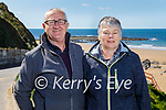 Enjoying a stroll in Ballybunion on Sunday, l to r: James and Bridie O'Brien.