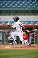 Florida Fire Frogs Kevin Josephina (20) at bat during a Florida State League game against the Jupiter Hammerheads on April 8, 2019 at Osceola County Stadium in Kissimmee, Florida.  Florida defeated Jupiter 7-6 in ten innings.  (Mike Janes/Four Seam Images)