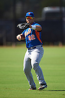 GCL Mets Scott Manea (92) during warmups before the first game of a doubleheader against the GCL Astros on August 5, 2016 at Osceola County Stadium Complex in Kissimmee, Florida.  GCL Astros defeated the GCL Mets 4-1 in the continuation of a game started on July 21st and postponed due to inclement weather.  (Mike Janes/Four Seam Images)