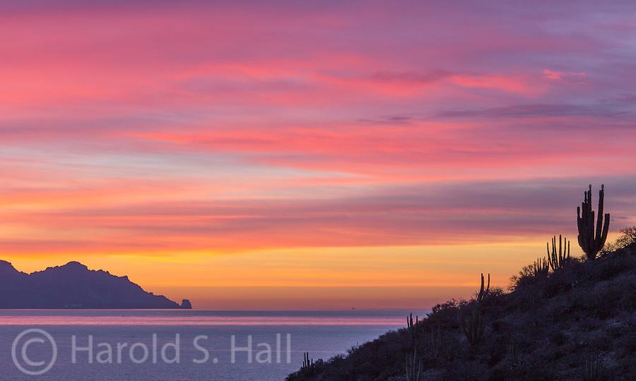 Sunrise at the Sea of Cortez off the coast of San Carlos, Sonora Mexico.