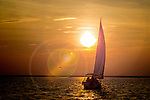 Sailing into the sunset along the Forgotten Coast of the north Florida Panhandle at Shell Point in Wakulla County, Florida .<br /> ©2013 Mark Wallheiser