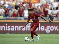 Football, Serie A: AS Roma - Sassuolo, Olympic stadium, Rome, September 15, 2019. <br /> Roma's Justin Kluivert is going to score during the Italian Serie A football match between Roma and Sassuolo at Olympic stadium in Rome, on September 15, 2019.<br /> UPDATE IMAGES PRESS/Isabella Bonotto