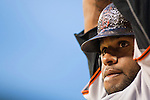 1 July 2011: San Francisco Giants' third baseman Pablo Sandoval warms up before taking his at-bat during the San Francisco Giants at Detroit Tigers Major League Baseball game at Comerica Park, in Detroit, Michigan. The Giants won 4-3. (Tony Ding/Icon SMI)