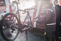 Post recon   bike cleaning.<br /> <br /> Flandriencross Hamme / Belgium 2017