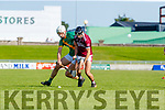 Flor McCarthy, Kilmoyley in action against Gavin Dooley, Causeway during the Kerry County Senior Hurling Championship Final match between Kilmoyley and Causeway at Austin Stack Park in Tralee