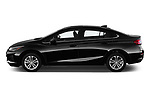 Car Driver side profile view of a 2019 Chevrolet Cruze LT 4 Door Sedan Side View