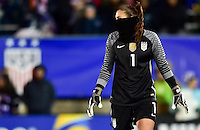 East Hartford, Conn. - April 6, 2016: The U.S. Women's National team take a 4-0 lead over Colombia during second half play in an international friendly match at Pratt & Whitney Stadium.