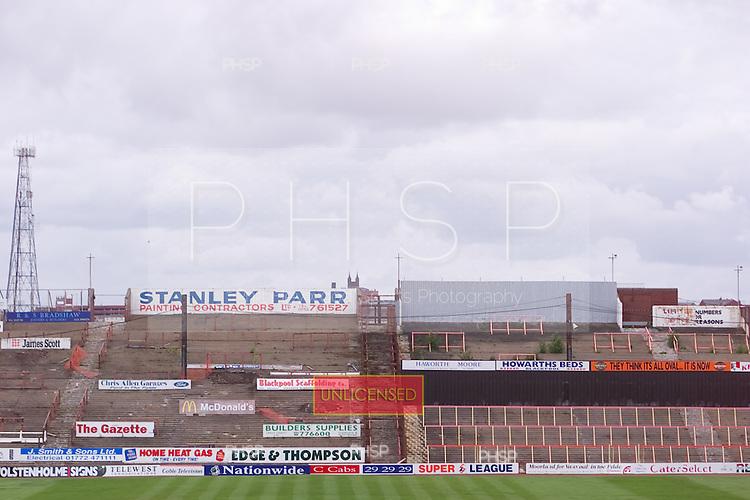 23/06/2000 Blackpool FC Bloomfield Road Ground..Kop.....© Phill Heywood.