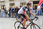 Fabio Aru (ITA) UAE Team Emirates before the start of the 99th edition of Milan-Turin 2018, running 200km from Magenta Milan to Superga Basilica Turin, Italy. 10th October 2018.<br /> Picture: Eoin Clarke | Cyclefile<br /> <br /> <br /> All photos usage must carry mandatory copyright credit (© Cyclefile | Eoin Clarke)